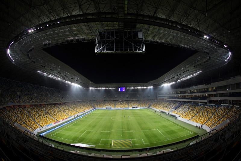 Усилена охрана стадиона «Арена Львов», матч на котором посетят президенты Украины и Словении