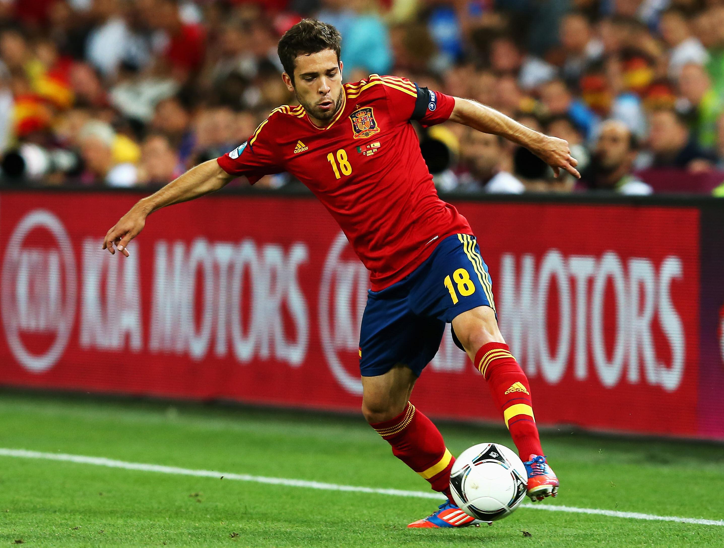 Jordi Alba, durante la Eurocopa, contra Portugal