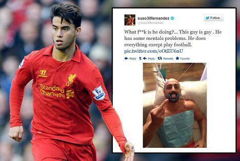 La FA multa a Suso por llamar gay a José Enrique en twitter
