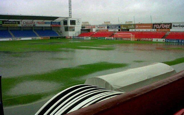 La lluvia obliga a aplazar el Huesca-Barcelona B