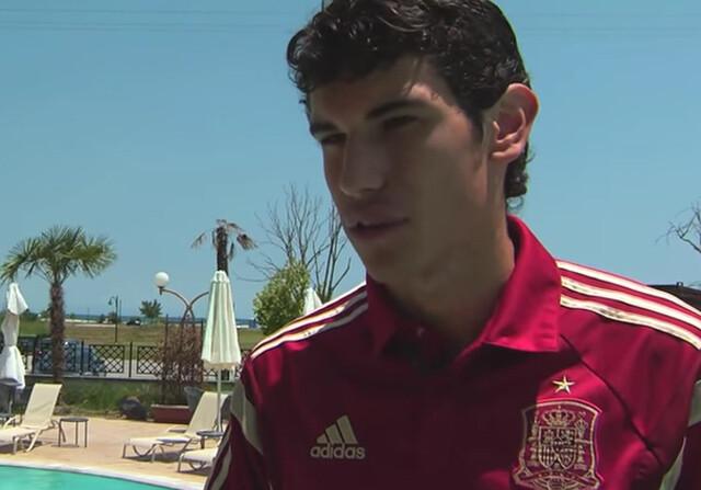 Jesús Vallejo, capitán de la Selección española sub19