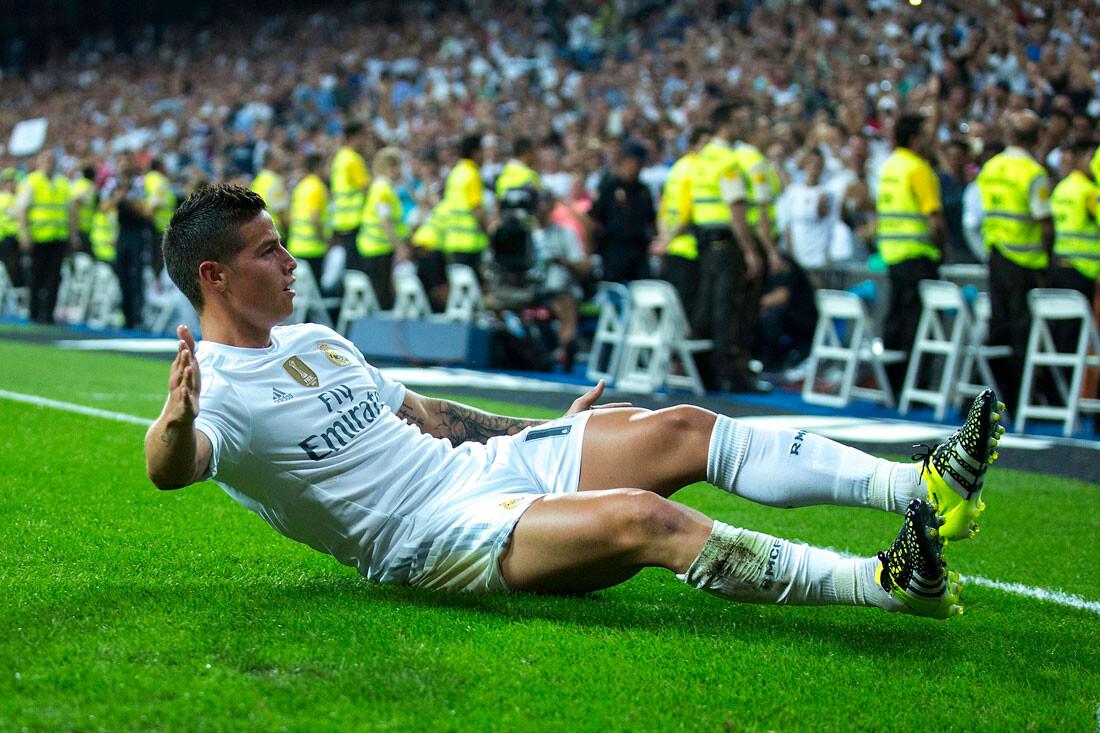 James marca gol en el Bernabeu