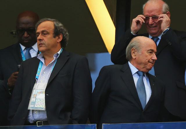 Joseph Blatter y Michel Platini, juntos en un acto