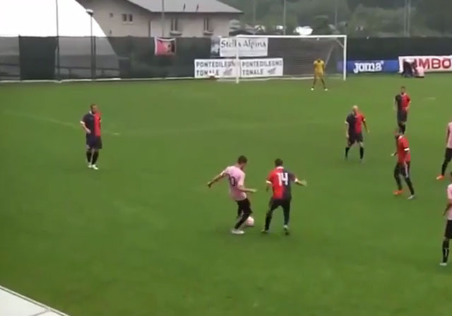 El triple caño de Franco Vázquez en una jugada