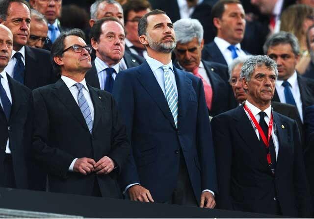 El Rey con Artur Mas y Villar
