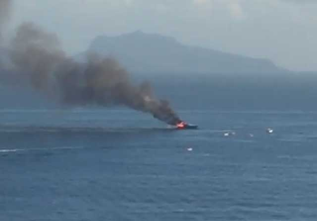 Aurelio de Laurentiis sufre un incendio en su barco