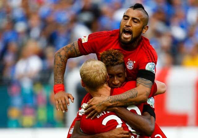 Bayern Munich celebrando un gol