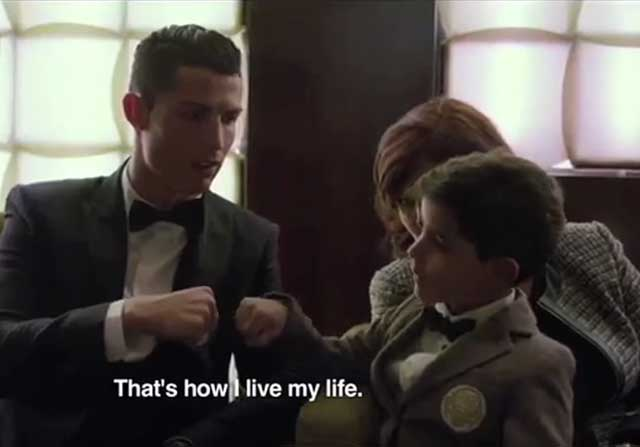 Cristiano en el documental