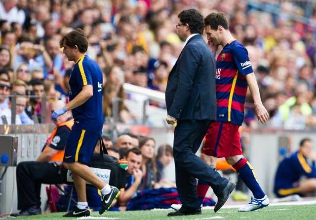 Lionel Messi lesionado
