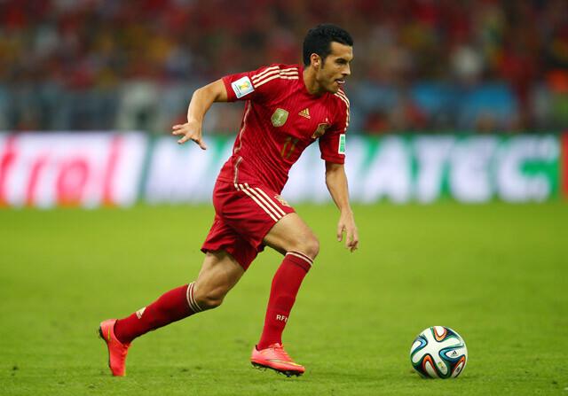 Pedro, con la Selección española