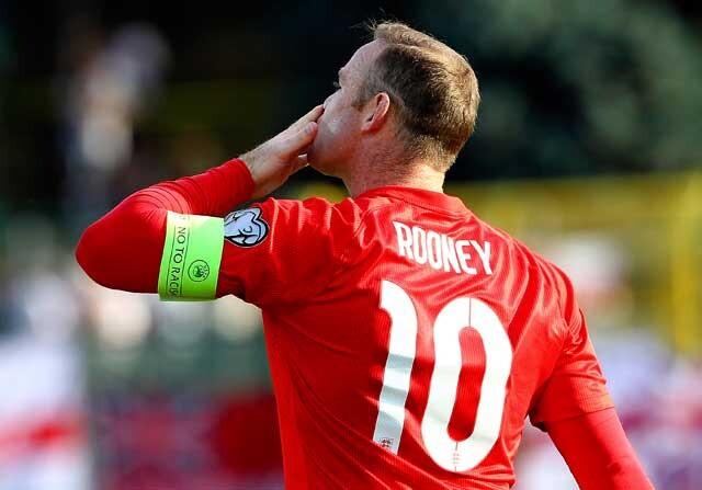 Wayne Rooney con la selección inglesa