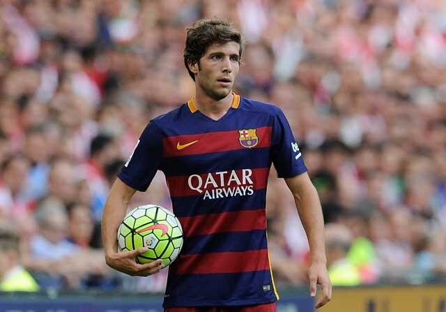 Sergi Roberto, en un partido con el Barcelona