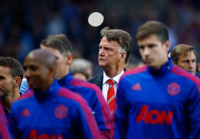 Van Gaal como entrenador del Manchester United