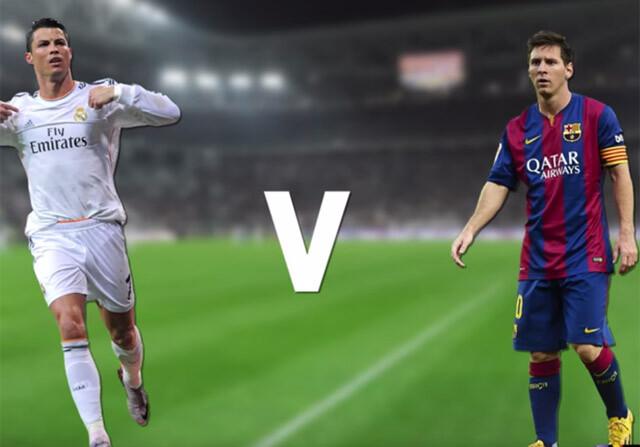 Cristiano y Leo Messi