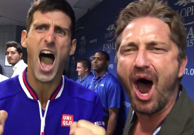 "Novak Djokovic gritando ""This is Sparta"""