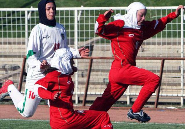 Jugadoras de la selección de Irán