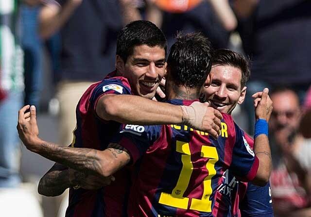 Messi, Luis Suárez, Neymar