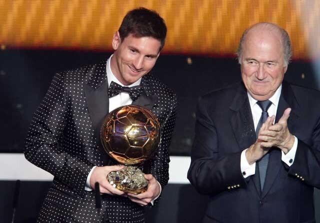 Mesi recibe el balon de oro 2014