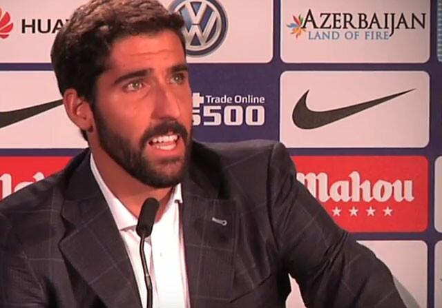 Raul Garcia despedida del Atletico
