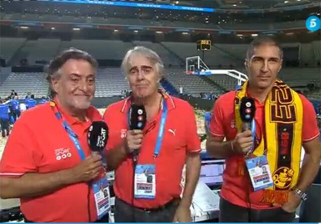 Siro López en emocionado en el Eurobasket de Francia