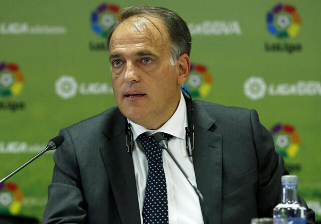 Tebas es presidente de la Liga BBVA