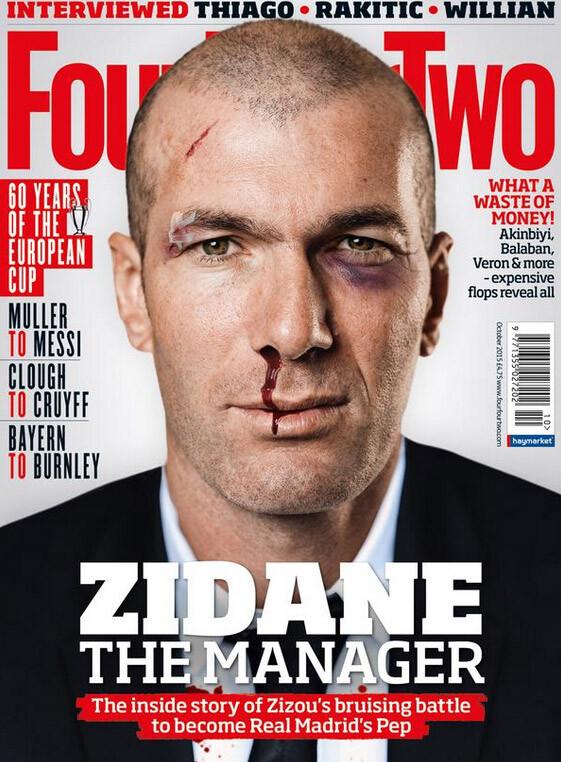 Zinedine Zidane en portada de la  'Four Four Two'