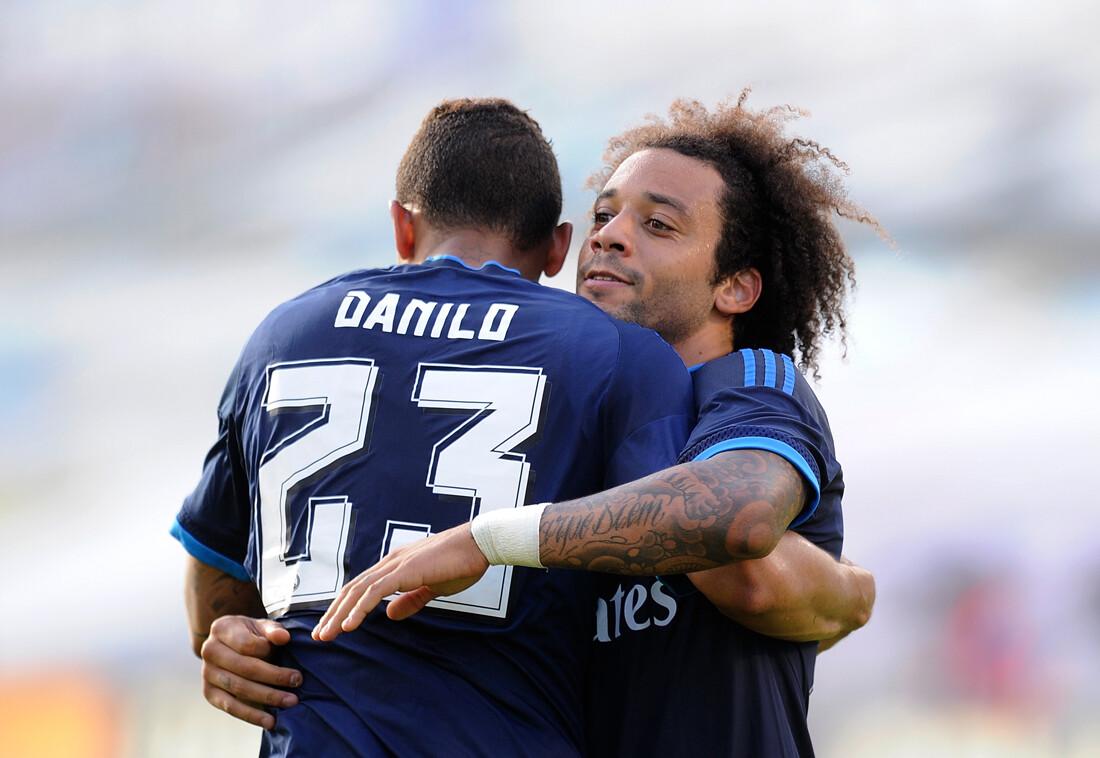 Danilo, junto a Marcelo