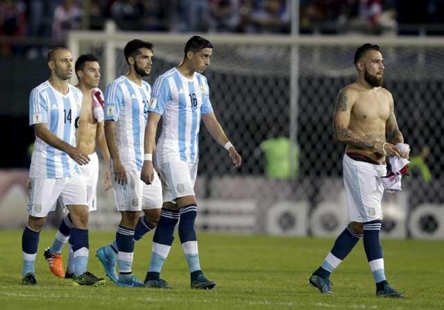 La Selección Argentina contra Paraguay
