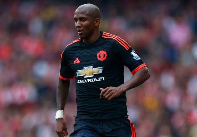Ashley Young, con el Manchester United