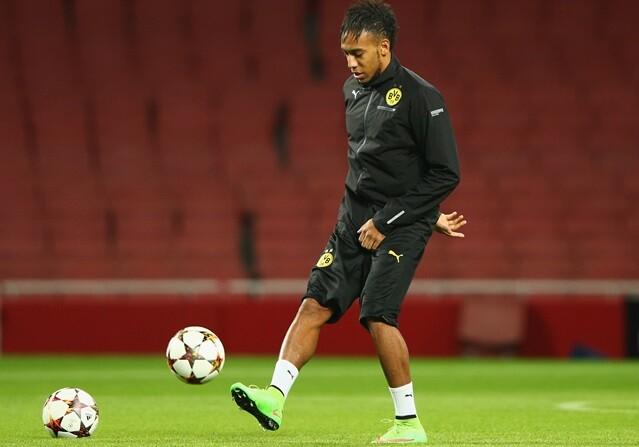 Aubameyang se entrena con Borussia