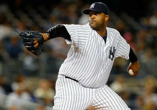 CC Sabathia lanzando con New York Yankees
