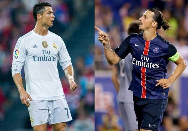 Duelo entre Cristiano e Ibrahimovic