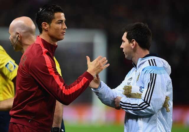 Cristiano y Messi en un Portugal-Argentina
