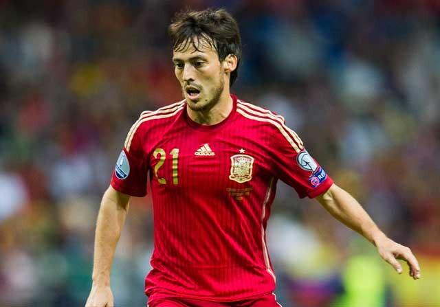 David Silva, con la selección española