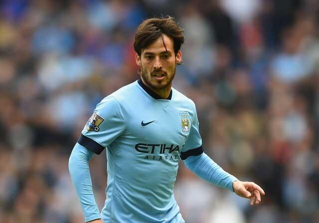 David Silva jugando con el Manchester City