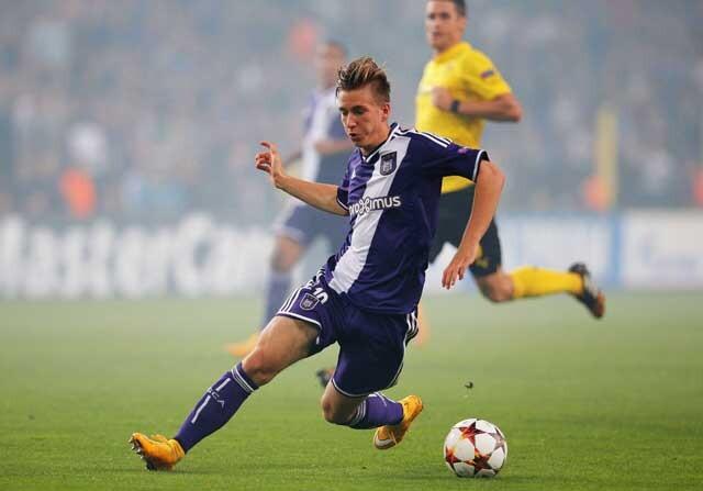Dennis Praet, en un partido del Anderlecht