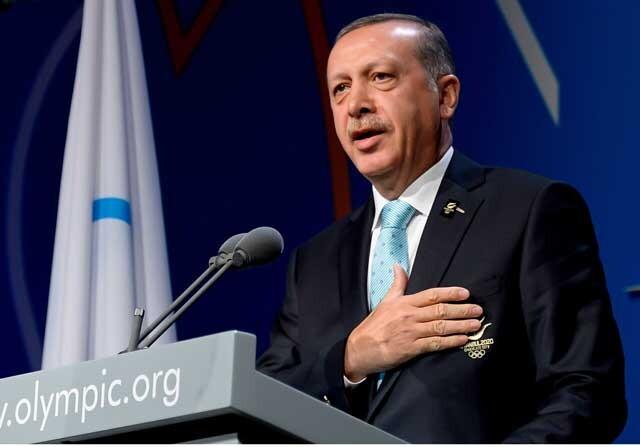 Erdogan durante una charla sobre los Juegos Olímpicos