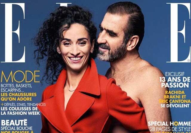 Eric Cantona se desnuda en la portada de Elle