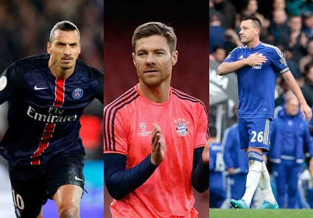 Zlatan Ibrahimovic, John Terry y Xabi Alonso