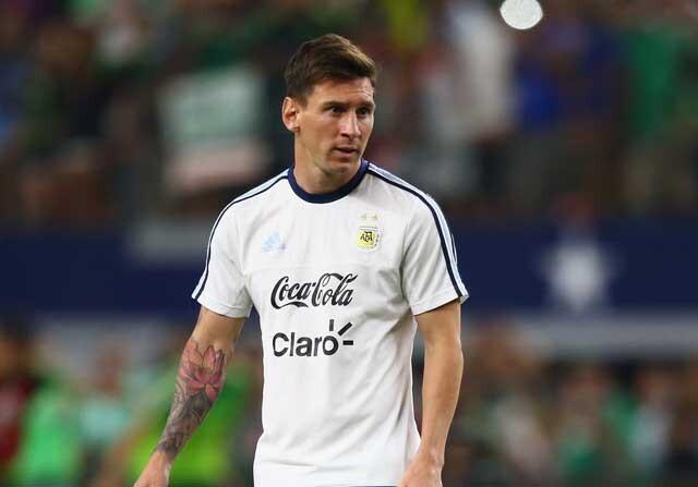 Lionel Messi con la Selección Argentina
