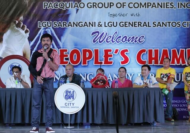 Manny Pacquiao se presenta a las elecciones como senador