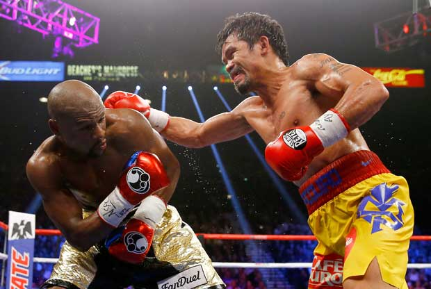 Manny Pacquiao frente a Floyd Mayweather