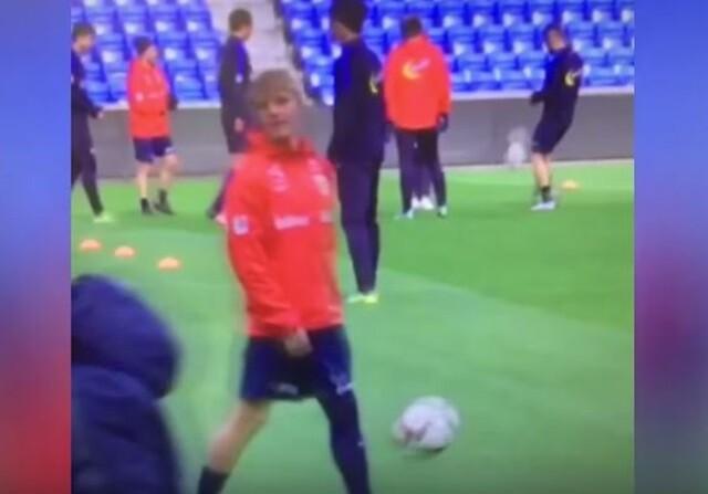 Martin Odegaard se entrena con Noruega
