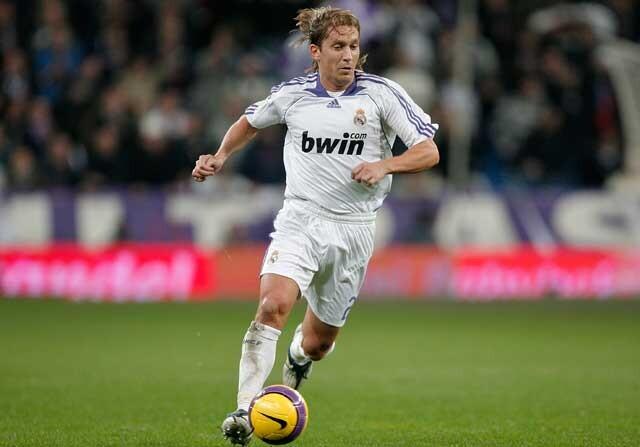 Míchel Salgado, en un partido con el Real Madrid