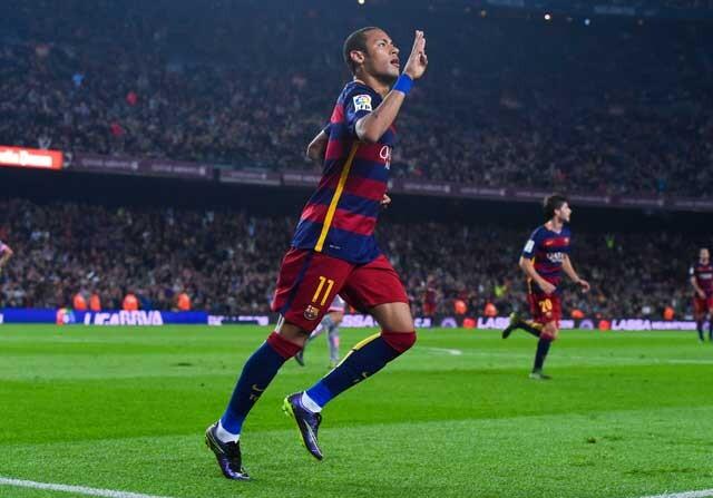 Neymar Junior celebrando un gol