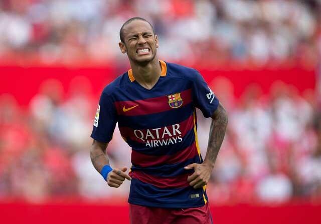 Neymar durante un partido ante el Sevilla