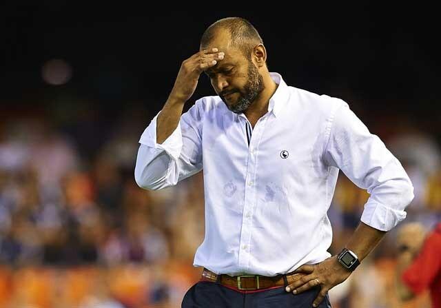 Nuno Espirito Santo no goza del respaldo de los jugadores del Valencia