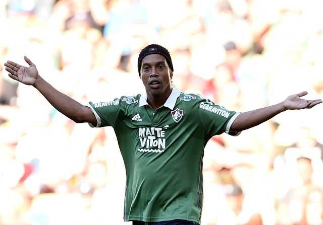 Ronaldinho con el Fluminense