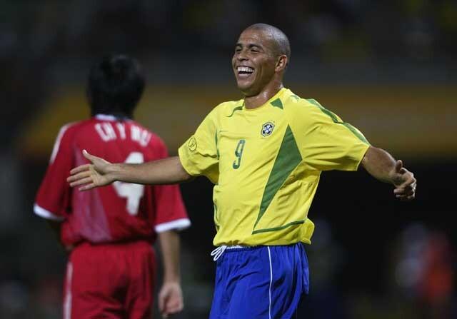 Ronaldo Nazário con la Selección de Brasil