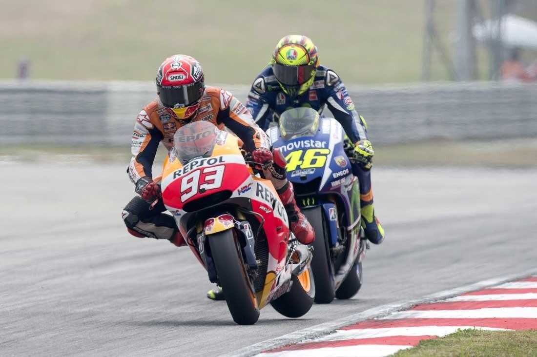 Lo que Márquez le hizo a Rossi en Malasia